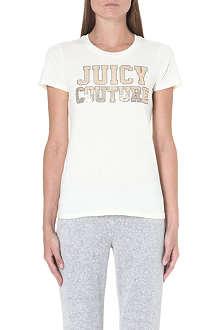 JUICY COUTURE Sequin-detail cotton t-shirt