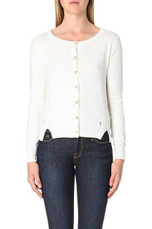 JUICY COUTURE Sheer polka dot knitted cardigan