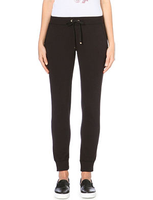 JUICY COUTURE Relaxed cotton-jersey jogging bottoms
