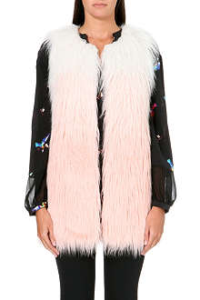 JUICY COUTURE Sleeveless faux fur vest