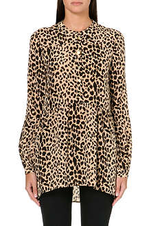JUICY COUTURE Leopard print silk blouse