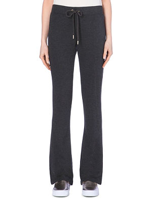 JUICY COUTURE Bootcut jersey jogging bottoms