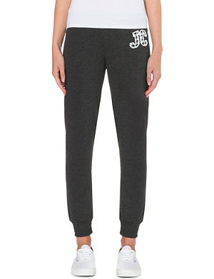 JUICY COUTURE Houndstooth jersey jogging bottoms