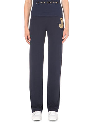 JUICY COUTURE Straight-leg jersey jogging bottoms