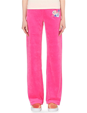 JUICY COUTURE Tahiti velour jogging bottoms
