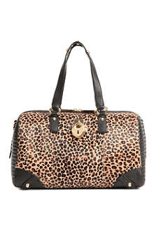 JUICY COUTURE Leopard print bowler bag