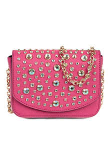 JUICY COUTURE Saffiano leather embellished mini bag