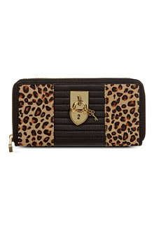 JUICY COUTURE Leopard continental zip wallet
