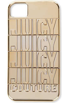 JUICY COUTURE Gold iPhone 4 case