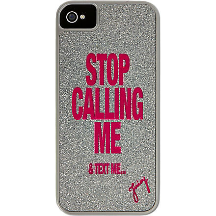 JUICY COUTURE Glitter iPhone 5 case (Silver
