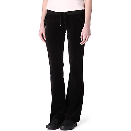 JUICY COUTURE Velour jogging bottoms (Black