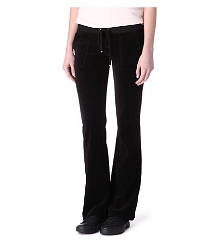 JUICY COUTURE Velour jogging bottoms (Black