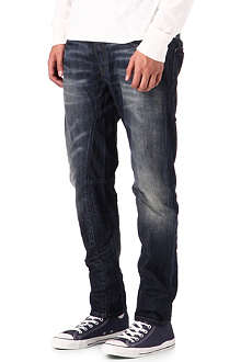 G STAR Distressed tapered jeans