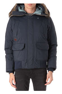 G STAR Mountain hooded down bomber jacket