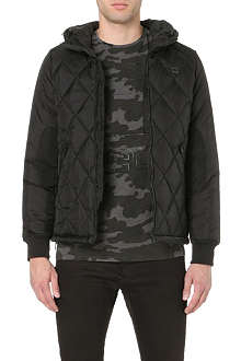 G STAR Hooded diamond-quilted jacket