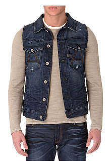 G STAR A-Crotch denim gilet
