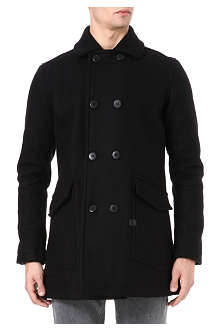 G STAR Wool-blend peacoat