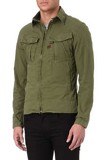 G STAR West zip-up overshirt