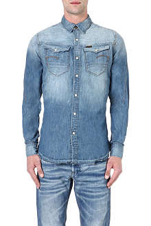 G STAR Slim-fit faded denim shirt