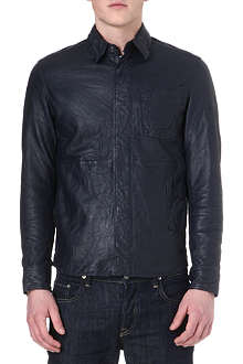 G STAR Faeroes leather overshirt