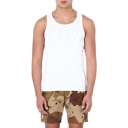 G STAR Raw logo-print vest (White