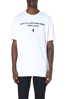 G STAR Raw for the Oceans slogan print t-shirt