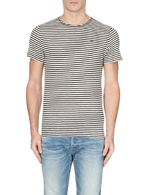 G STAR Striped slub t-shirt
