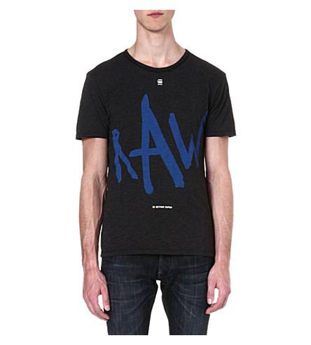 G STAR Written Raw logo t-shirt (Black