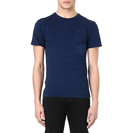 G STAR Pocket cotton t-shirt (Indigo