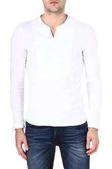 G STAR Admiral grandad-collar top