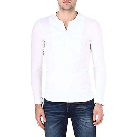 G STAR Admiral grandad-collar top (White