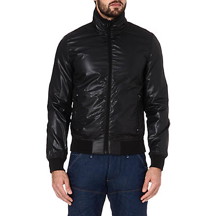 G STAR Hopkins perforated jacket (Black