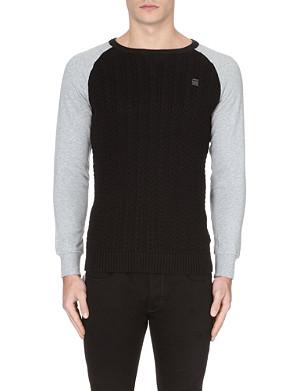 G STAR Contrast-knit jumper