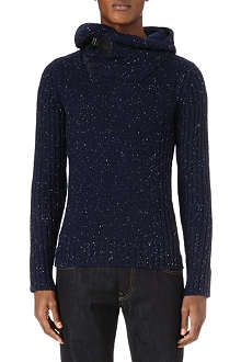 G STAR Contrast shawl-collar hooded jumper