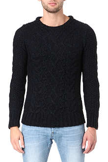 G STAR Huxley cable-knit jumper