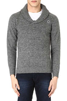 G STAR Shawl collar knitted jumper