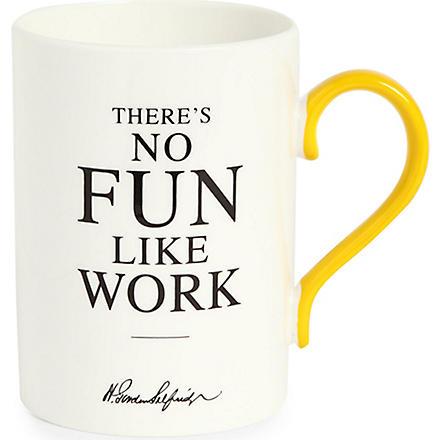 SELFRIDGES SELECTION There's No Fun Like Work Heritage mug