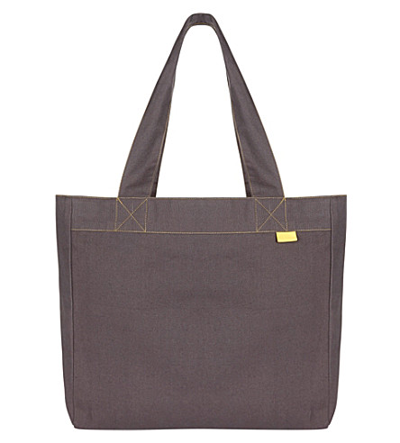 MAKERS FOR SELFRIDGES Contrast stitch cotton tote