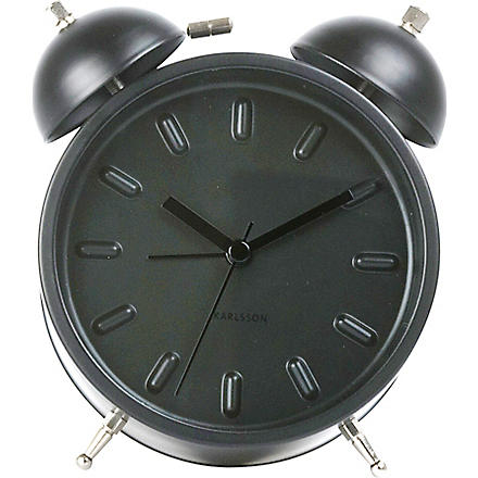 Twin bell alarm clock black