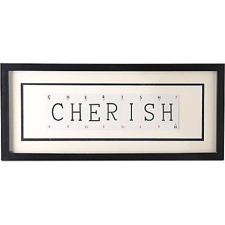 VINTAGE PLAYING CARDS CHERISH frame