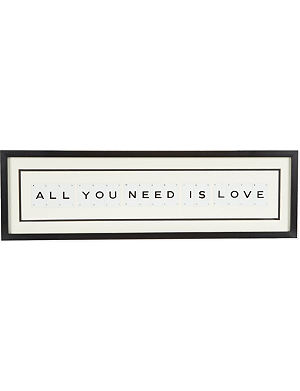 VINTAGE PLAYING CARDS All You Need Is Love wall art