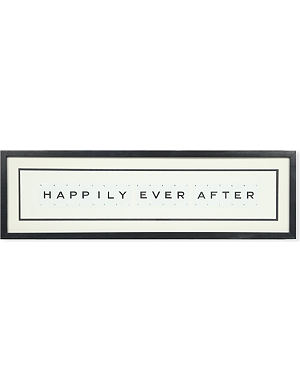 VINTAGE PLAYING CARDS Happily Ever After framed picture