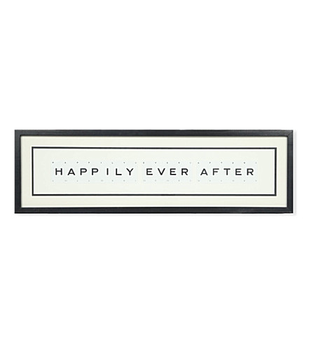 VINTAGE PLAYING CARDS Happily Ever After framed picture 8x30