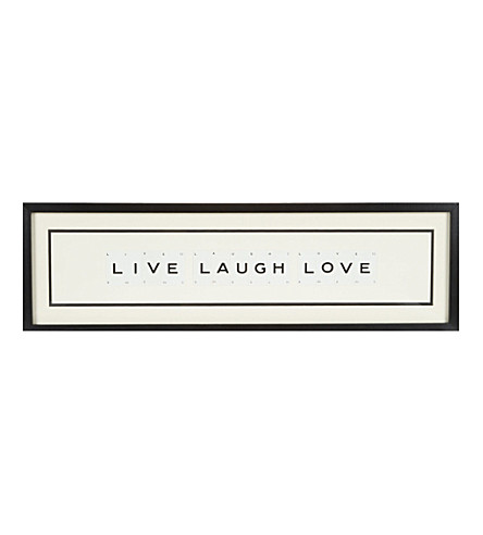 VINTAGE PLAYING CARDS Live Laugh Love framed picture 8x30