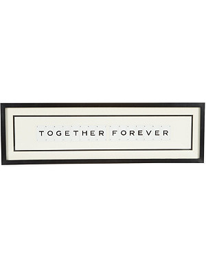 VINTAGE PLAYING CARDS Together Forever wall art