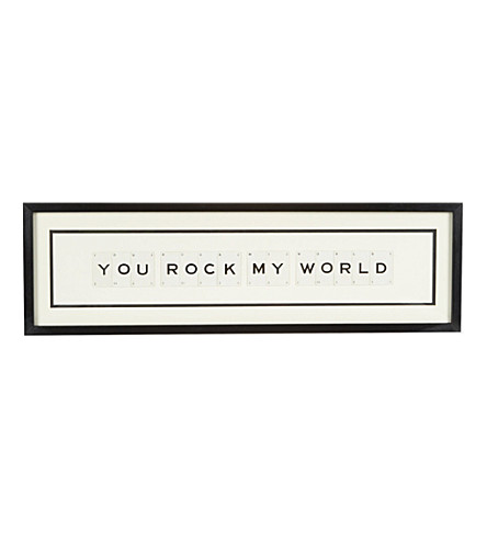 VINTAGE PLAYING CARDS You Rock My World wall art