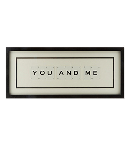 VINTAGE PLAYING CARDS 'You and Me' frame