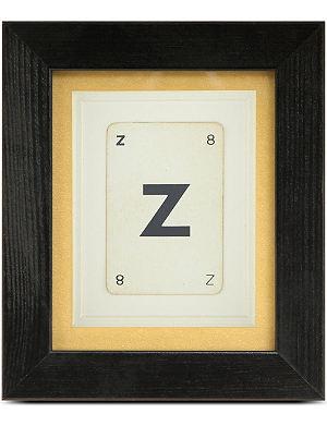 VINTAGE PLAYING CARDS Vintage letter card frame - Z