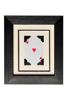 VINTAGE PLAYING CARDS Mini Heart frame
