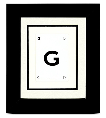VINTAGE PLAYING CARDS Initial frame - G